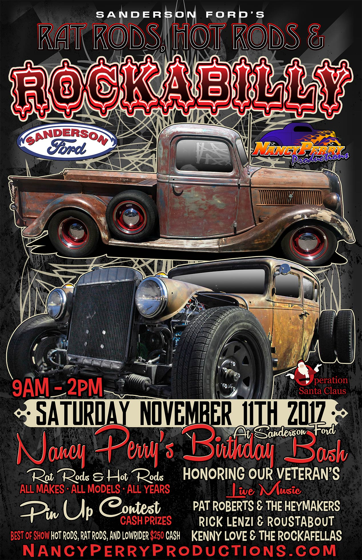 Rat Rods Hot Rods Rockabilly Car Show Benefiting Operation - Sanderson ford car show