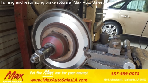 Brake rotor resurfacing at Max Auto Sales