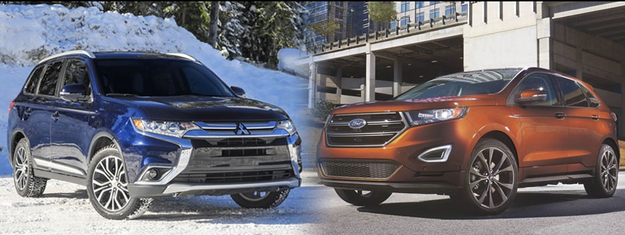 The Mitsubishi Outlander vs the Ford Edge