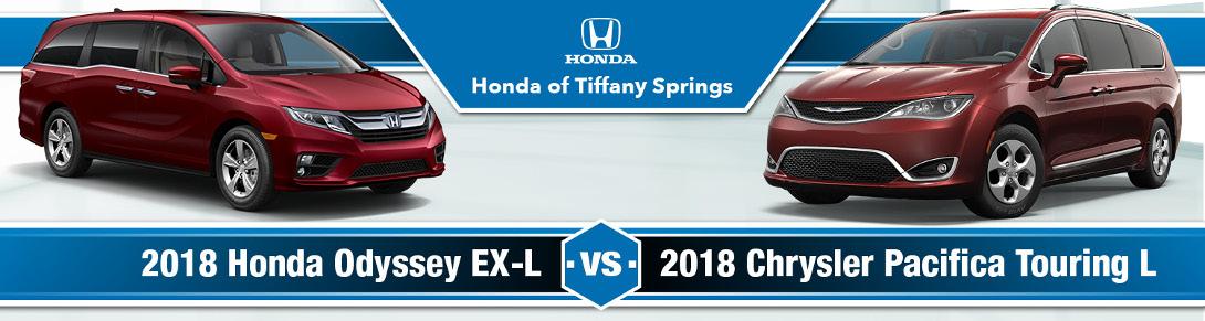 2018 Honda Odyssey Vs Chrysler Pacifica Honda Of Tiffany Springs