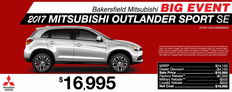 New Mitsubishi And Used Cars Bakersfield Mitsubishi - Mitsubishi outlander dealer