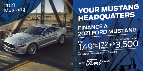 1.49% APR for 72 months on 2021 Mustang