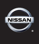 Nissan logo on black bg