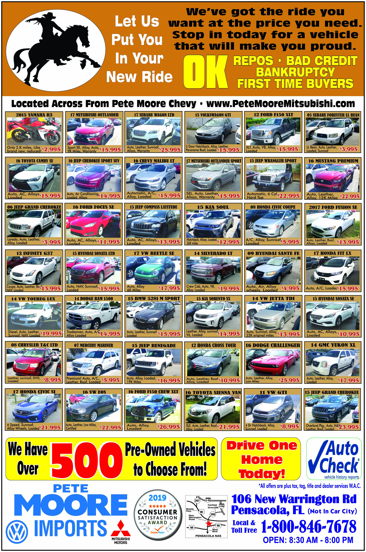 Used Cars Pensacola >> Used Car Specials Pensacola Fl Pete Moore Mitsubishi