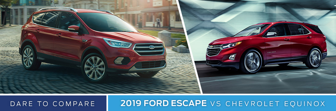 2019 Ford Escape vs. Chevy Equinox | Sanderson Ford | Phoenix, AZ