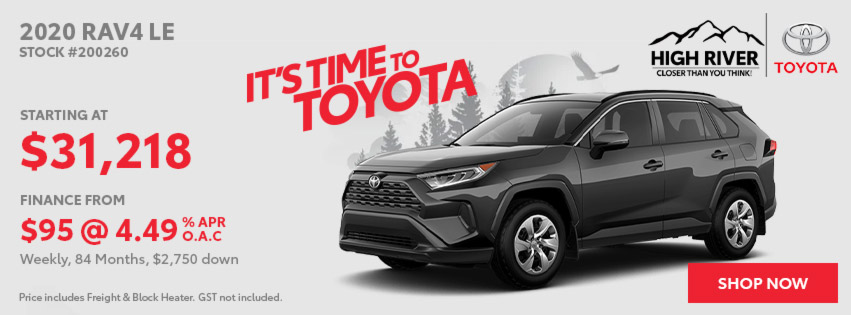 2020 RAV4 LE - Red Tag Days