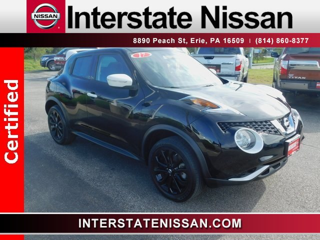 used car inventory certified 2017 nissan juke sv stk. Black Bedroom Furniture Sets. Home Design Ideas