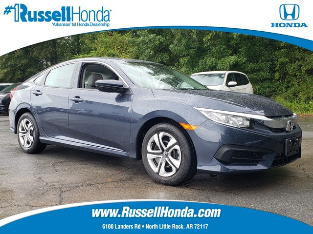 new 2018 honda civic sedan lx cvt russell honda north little rock ar. Black Bedroom Furniture Sets. Home Design Ideas