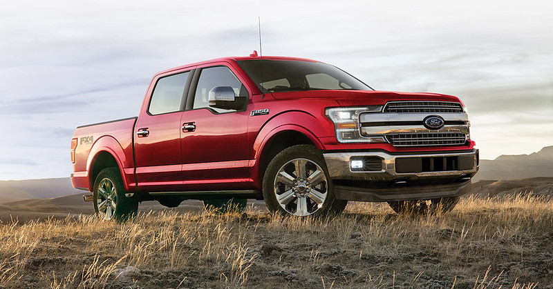 Ford F-150 parked in field