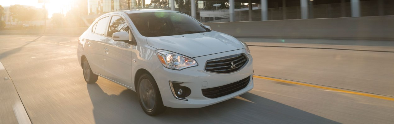 The 2018 Mitsubishi Mirage G4 at Tom Hodges Mitsubishi in Hollywood, MD