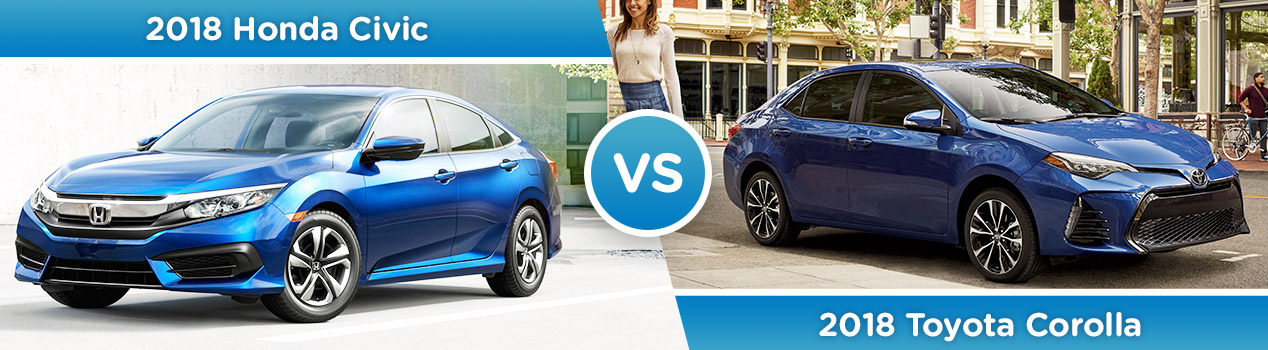 2018 Honda Civic vs. 2018 Toyota Corolla | Avery Greene Honda | Vallejo, CA
