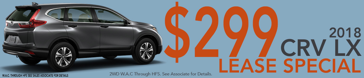 2018 CRV LX Lease Special.