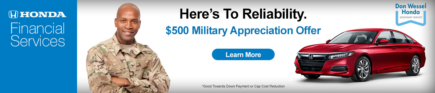 Don Wessel Honda - Military Appreciation Offer
