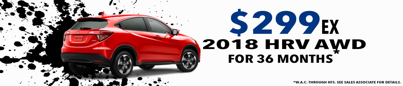 2018 HR V AWD Lease Special