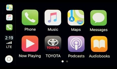 This is a picture of the Apply CarPlay app.