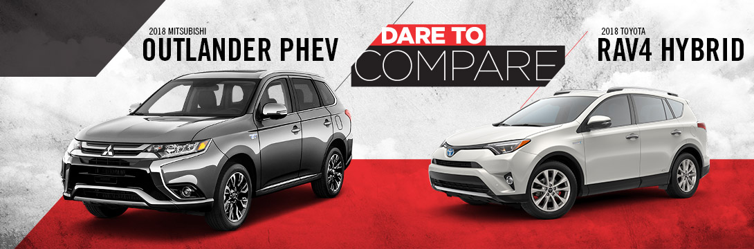 2018 Outlander PHEV vs. 2018 RAV4 Hybrid | Tom Hodges Mitsubishi | Hollywood, MD