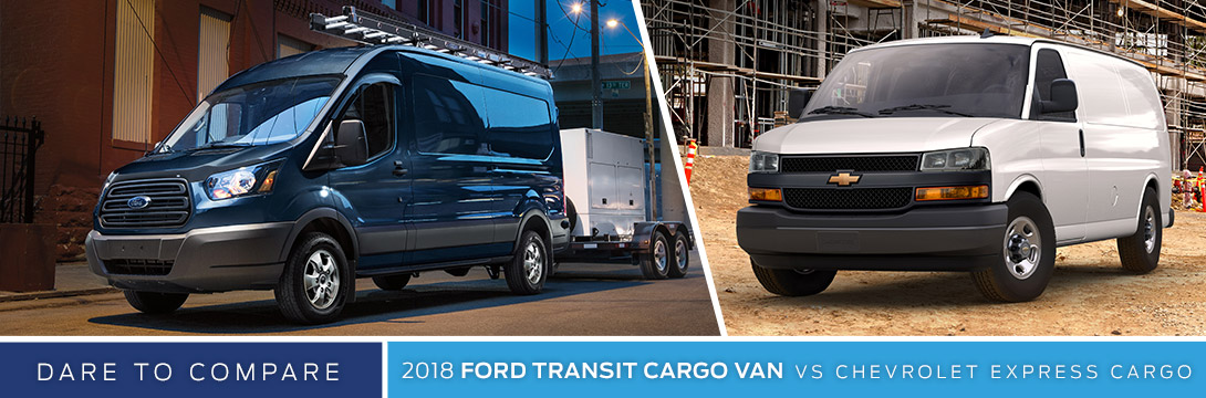 2018 Ford Transit Cargo Van Vs Chevy Express Sanderson Phoenix Az