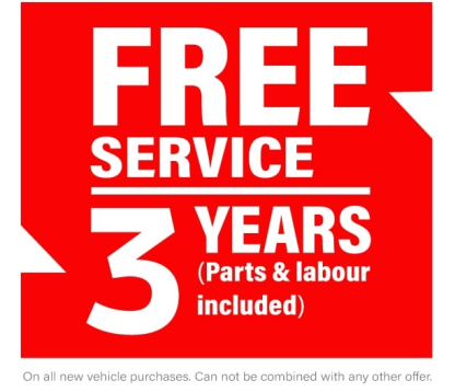 free service for 3 years