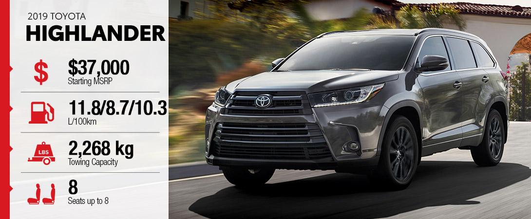 2019 Toyota Highlander High River Toyota Calgary Ab