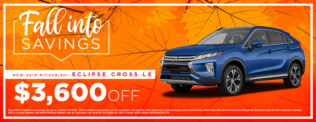 Fall Into Savings Eclipse Cross