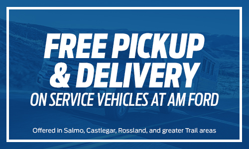 Free Pickup & Delivery in Trail, BC | AM Ford