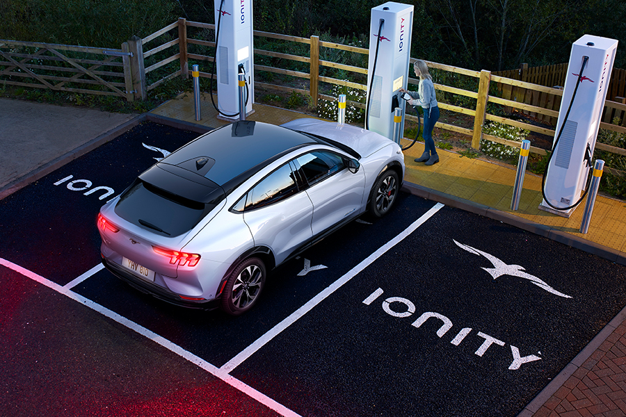 Mach-E and IONITY charging station