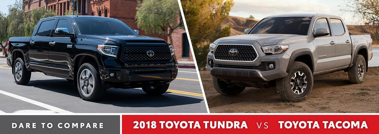Tundra Vs Tacoma >> 2018 Toyota Tundra Vs Toyota Tacoma Calgary Ab