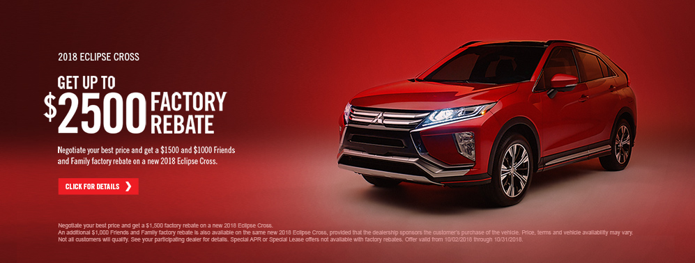 2018 Eclipse Cross October Factory Rebate 997x378