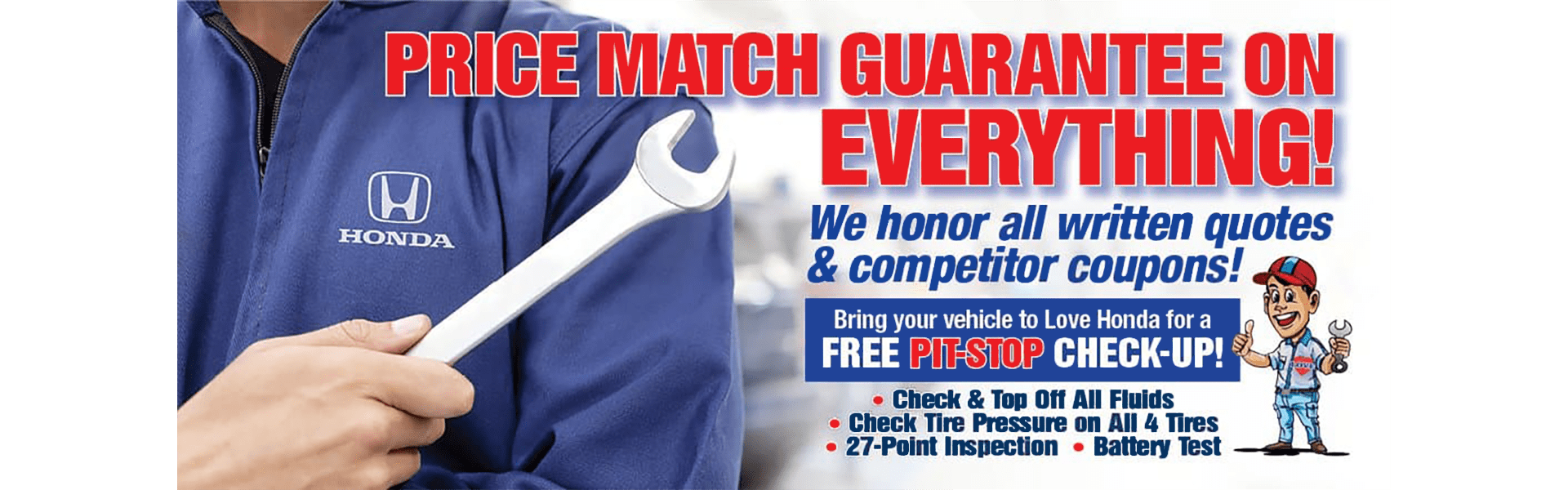 Love Honda - Service Price Match Guarantee