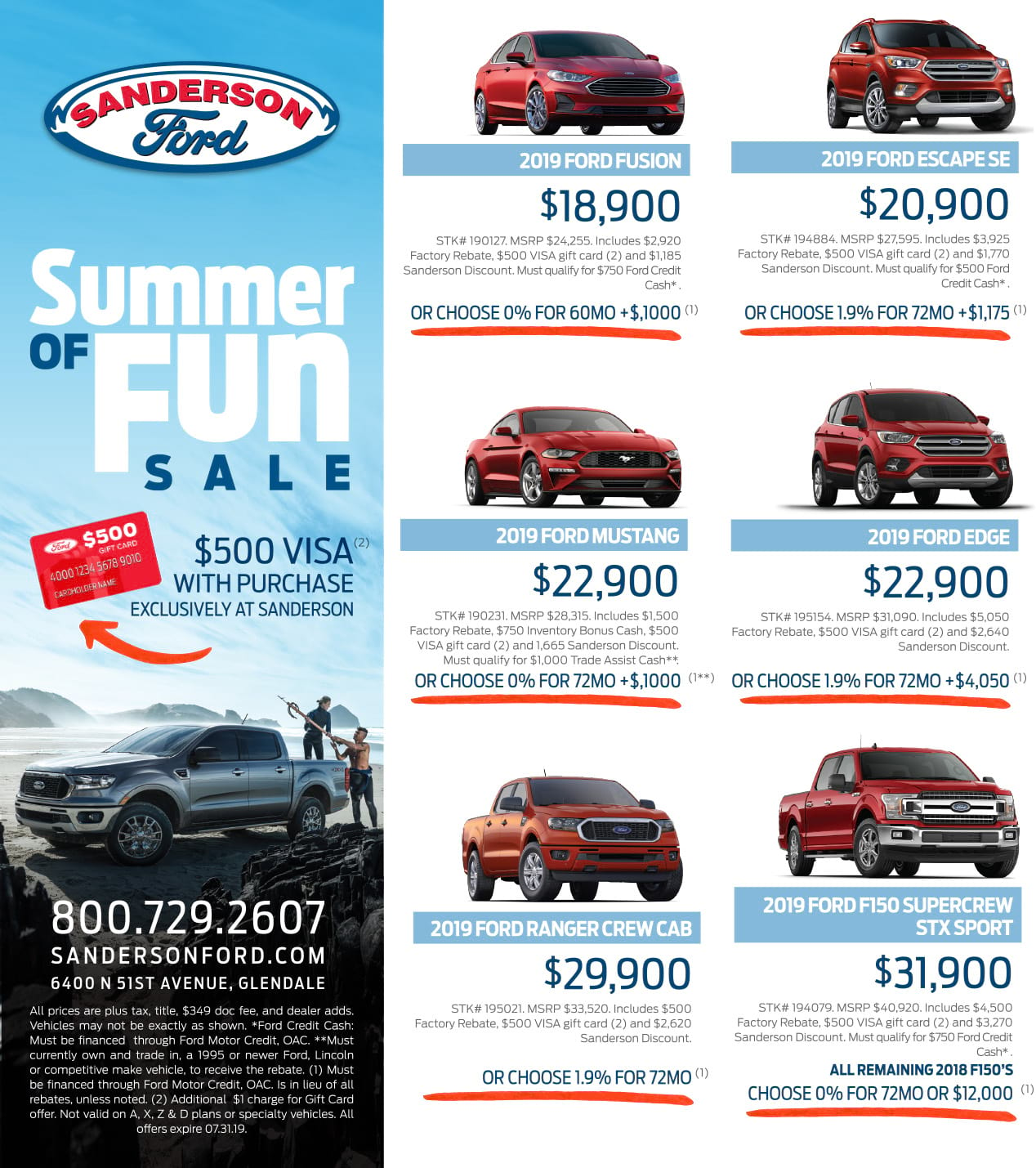Sanderson Ford May Print Ad