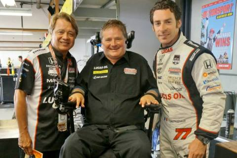 With Sam Schmidt and Simon Pagenaud at the Indy