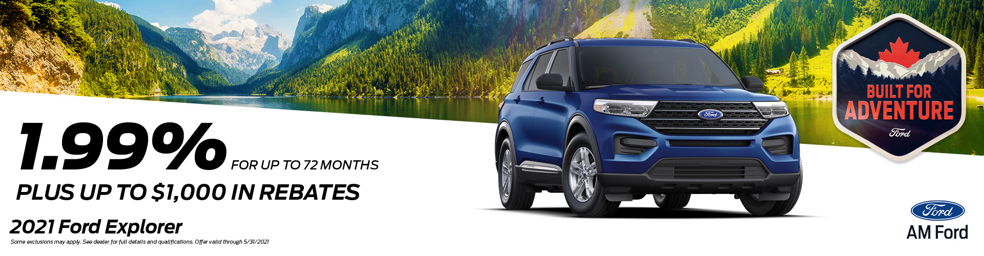 Save On The 2021 Explorer | AM Ford | Trail, BC
