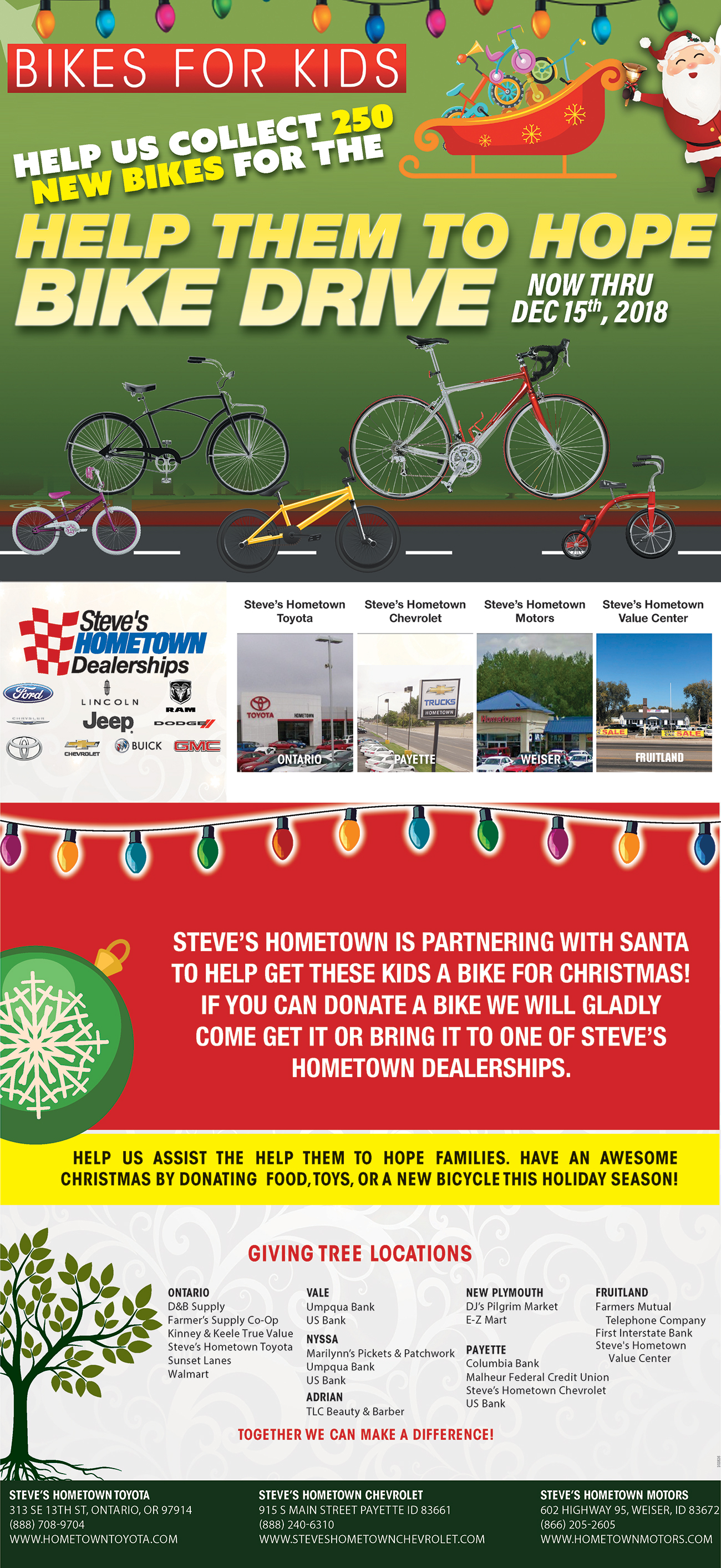 Bikes for Kids | Hometown Motors | Weiser, ID