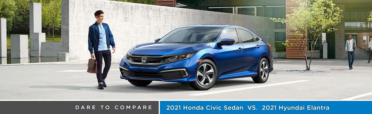 2021 Honda Civic Sedan vs 2021 Hyundai Elantra | Avery Greene Honda | Vallejo, CA