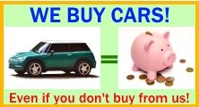 Image saying We buy cars even if you don't buy from us.