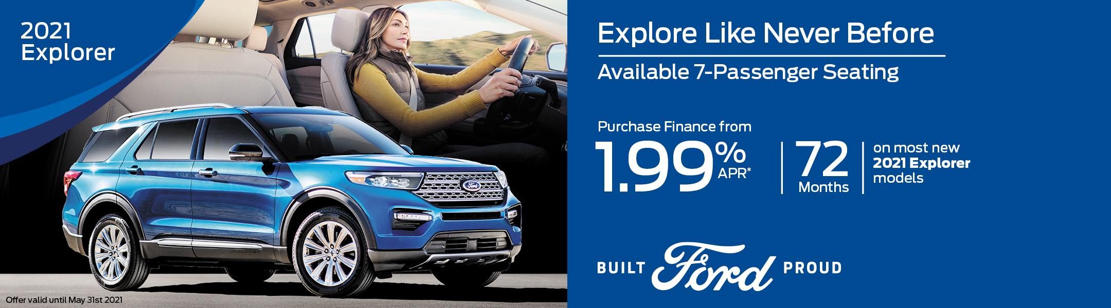 2021 Ford Explorer Special Offer