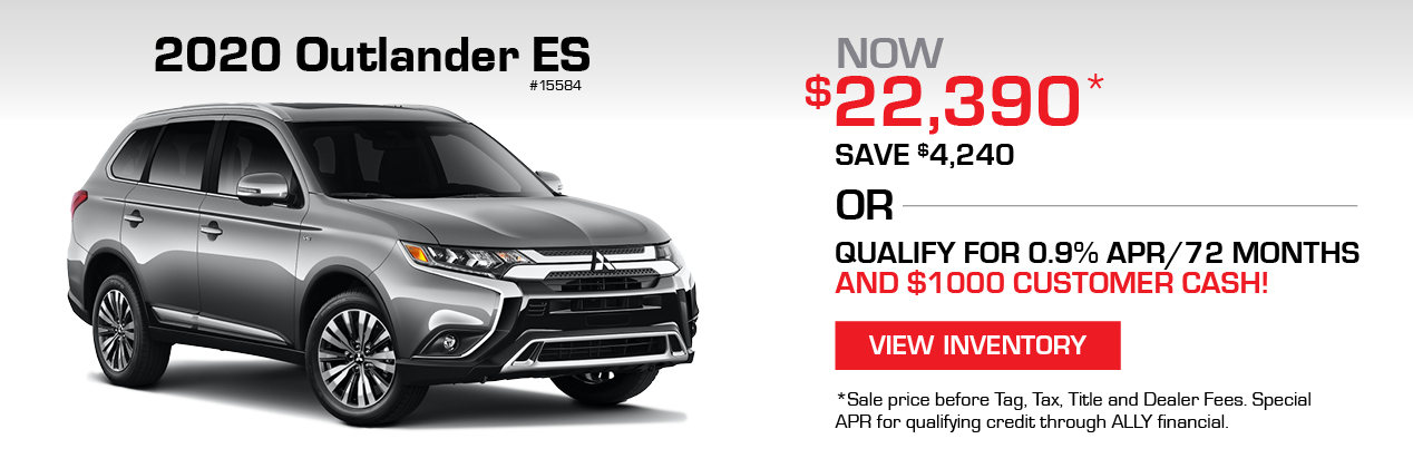 2020 Outlander ES. Now $22,390, save $4,240. Click to view inventory.