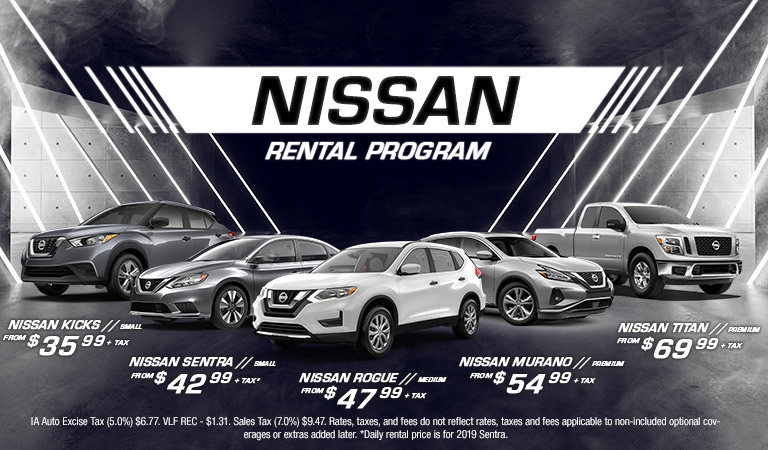 Nissan Rental Program | Quad Cities, IA