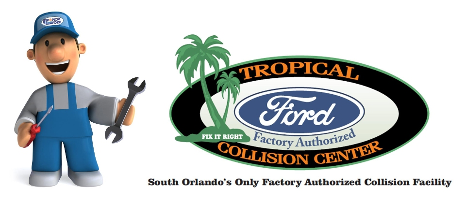 Tropical Ford Collision Center Logo | Orlando, FL