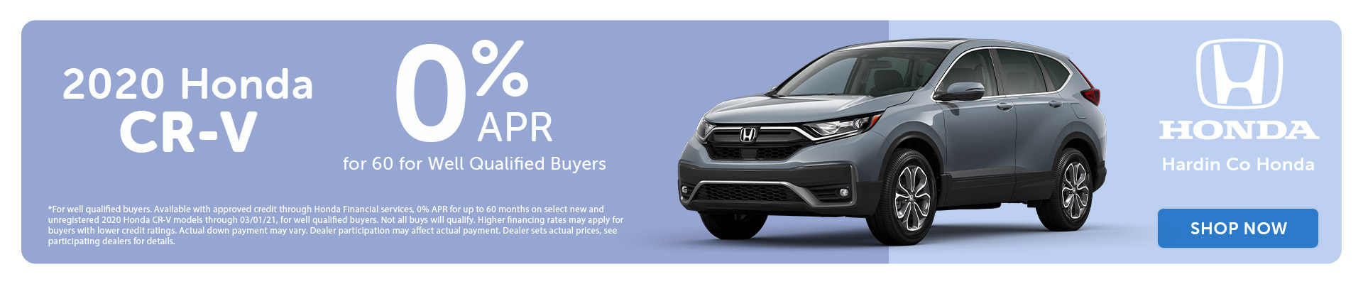 0% APR - 2020 Honda CR-V