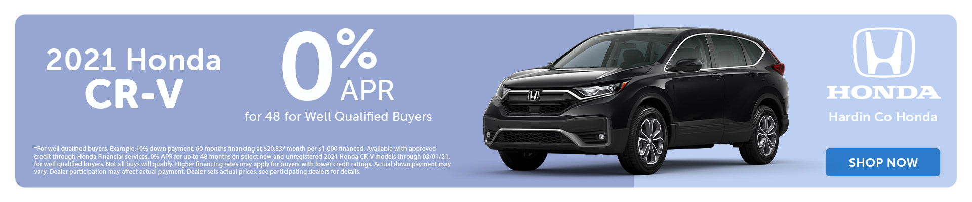 0% APR - 2021 Honda CR-V