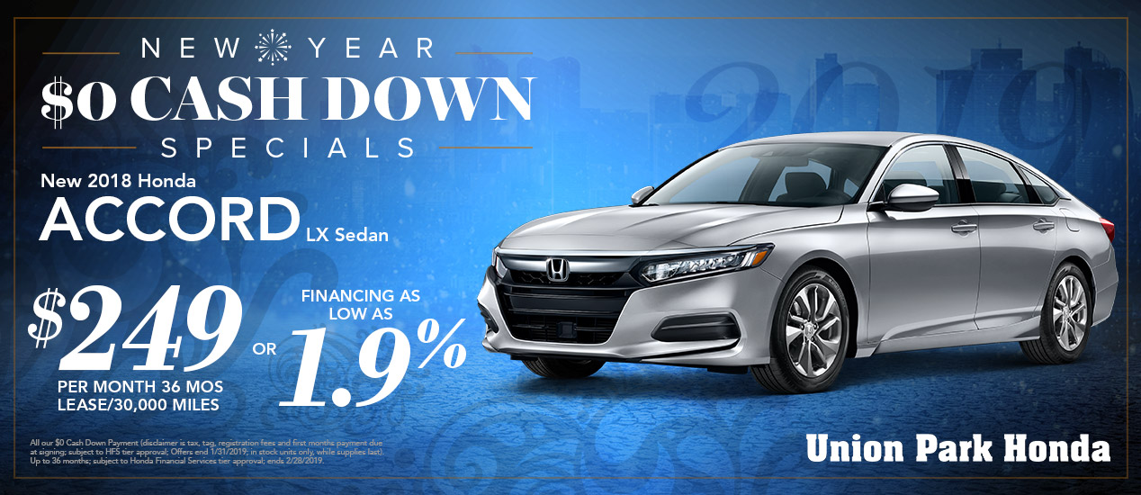 Specials Union Park Honda Wilmington De