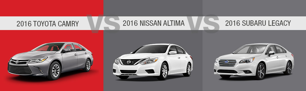 Krause Toyota Compares the Toyota Camry with the Nissan Altima and the Subaru Legacy