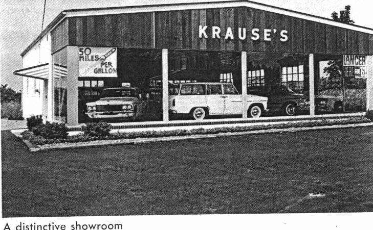 Krause Toyota Showroom in the early 1960s