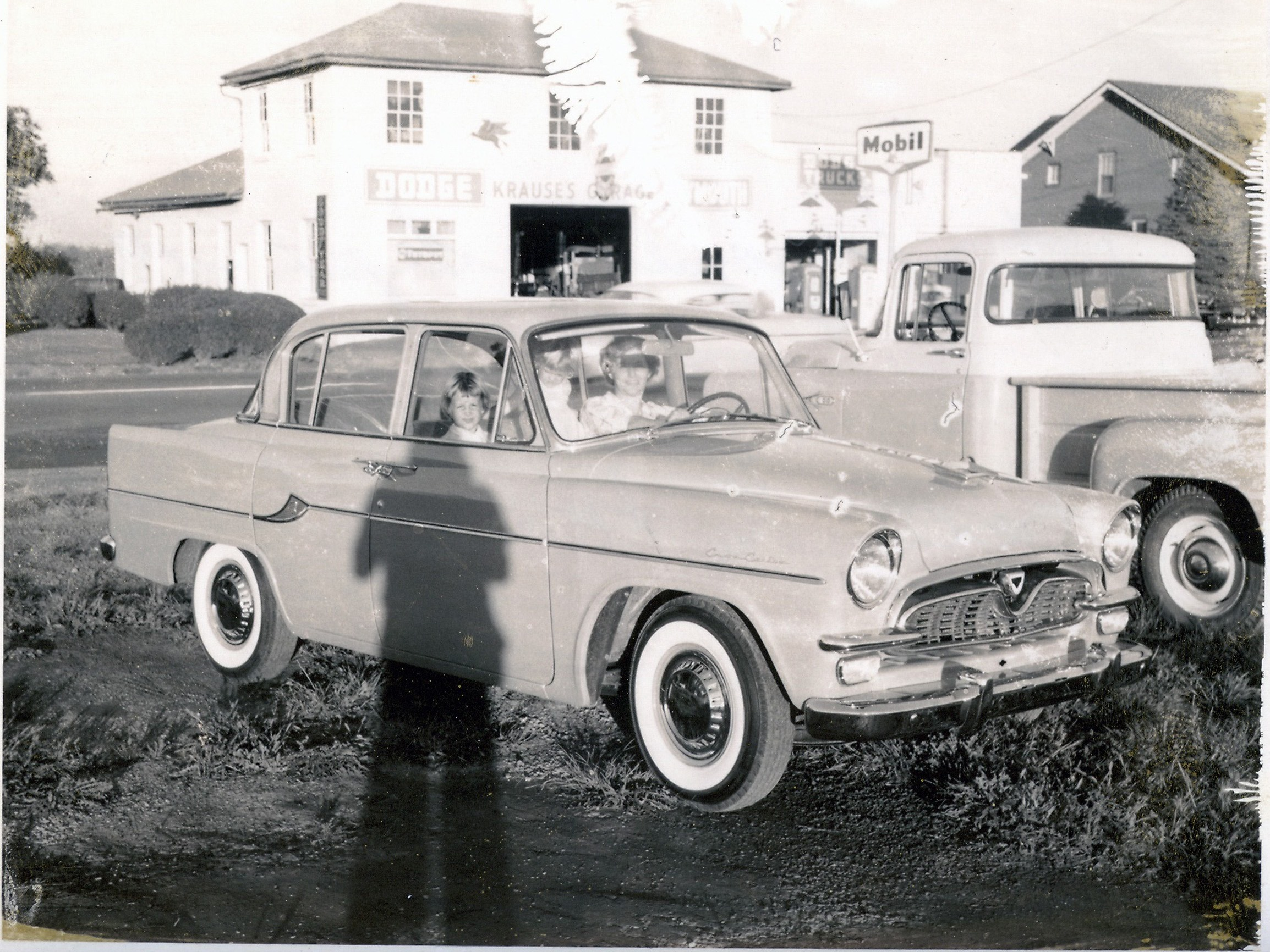 Betty Krause in one of the first Toyopets - 1959 - Krause Toyota