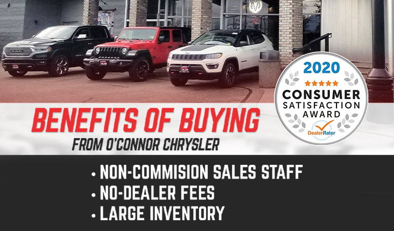 Benefits Of Buying From O'Connor Chrysler in Chilliwack, BC