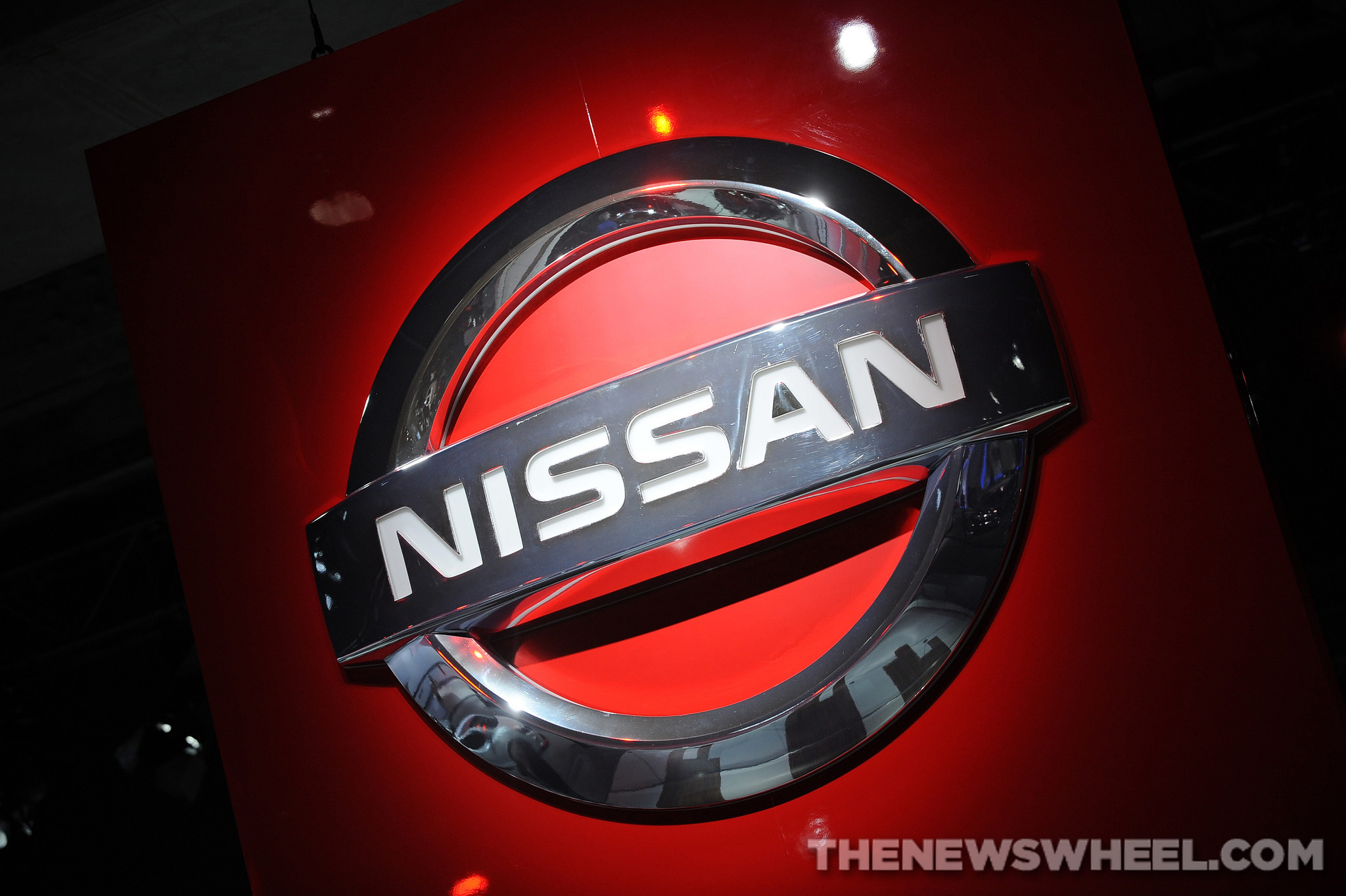 red Nissan logo