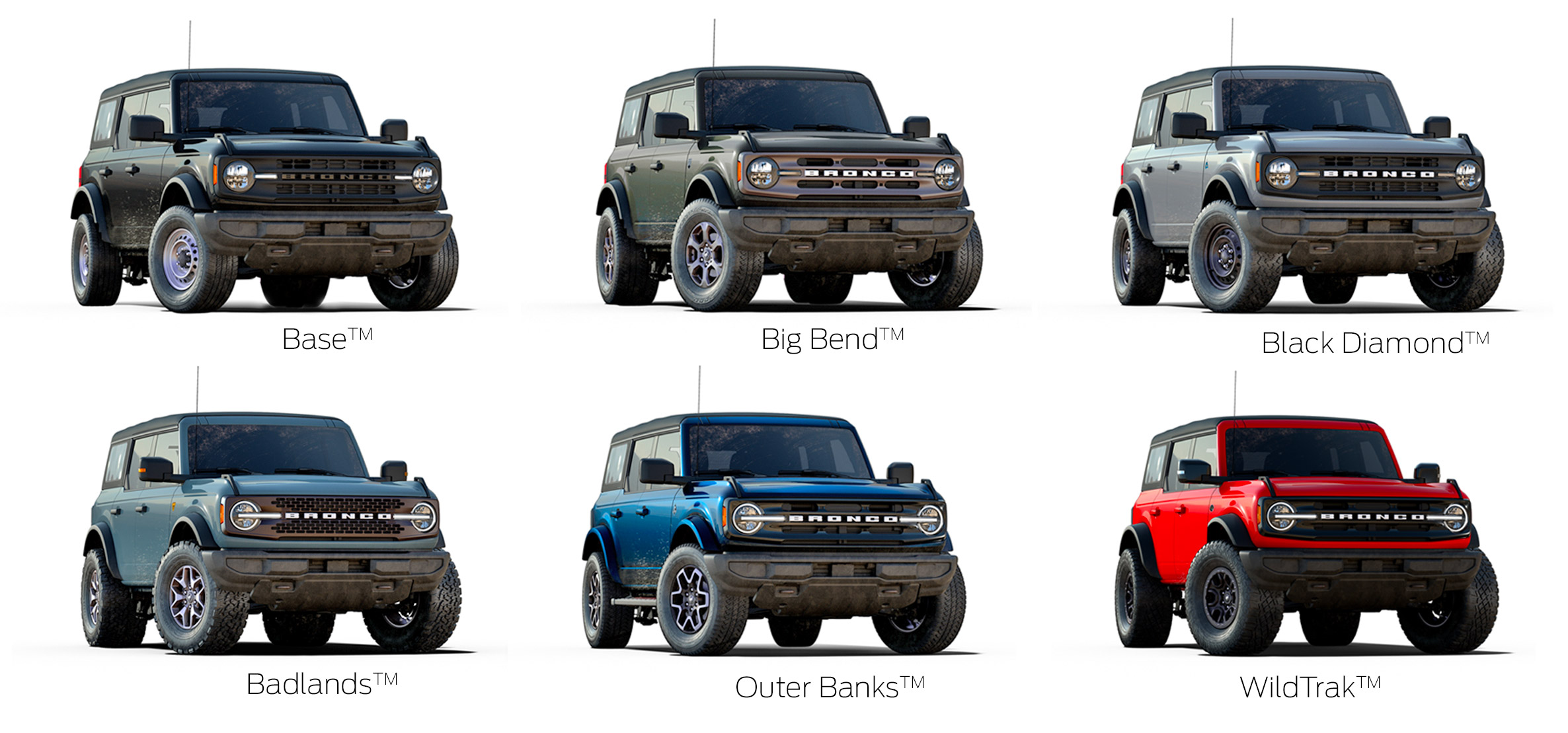 Customizable 2021 Ford Bronco