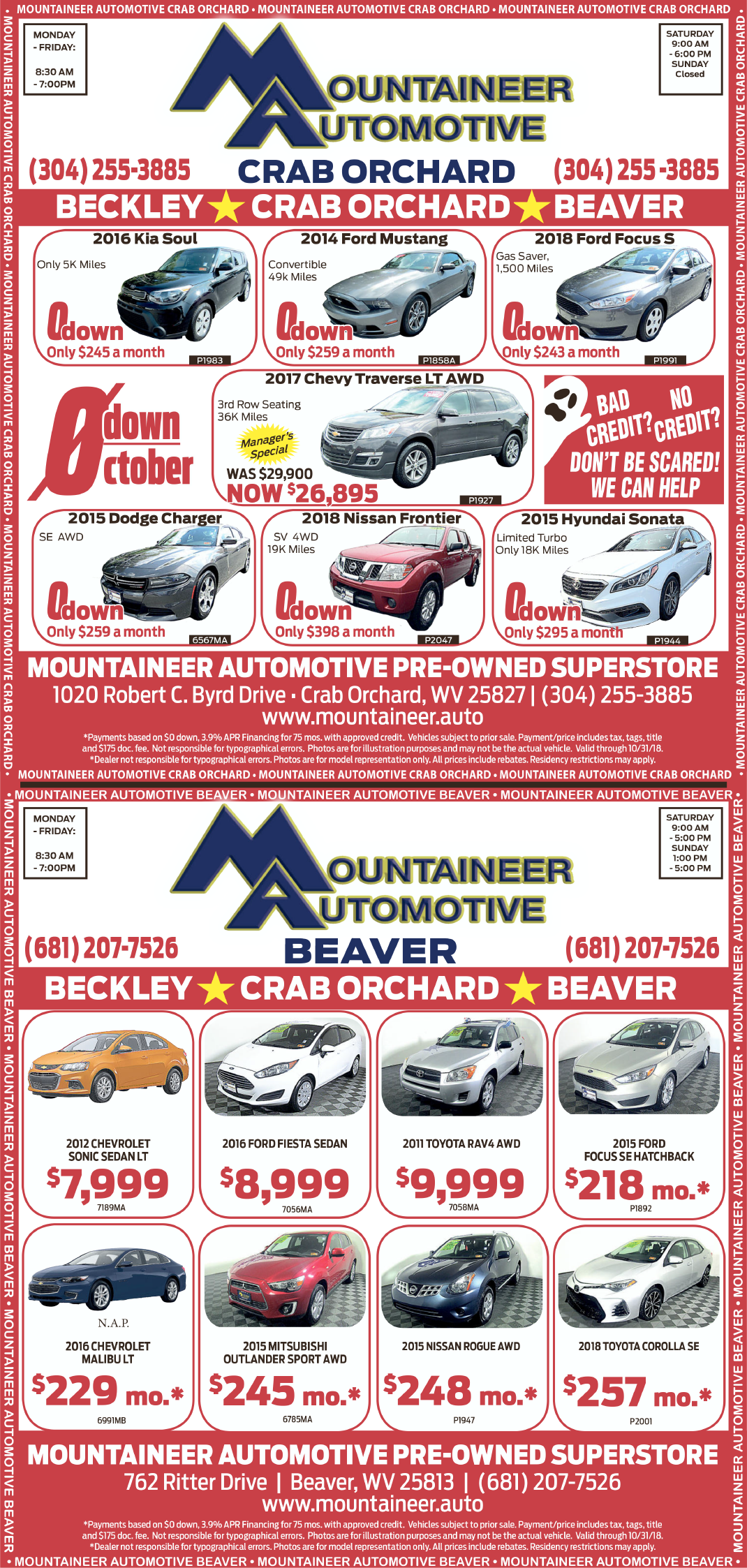 Mountaineer Crab Orchard - Print Ad