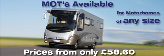 MOTs available for Motorhomes of Any Size